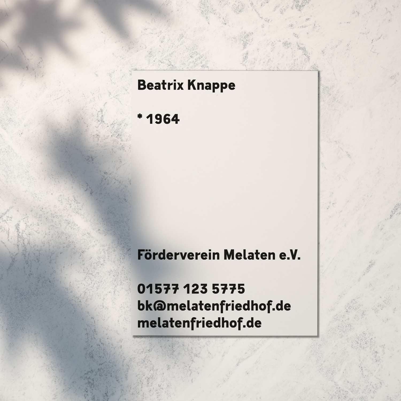 Visitenkarte des Melaten-Friedhofs